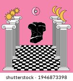 surreal masonic like landscape... | Shutterstock .eps vector #1946873398