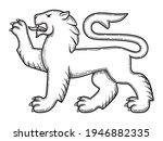 vector illustration of lion for ... | Shutterstock .eps vector #1946882335