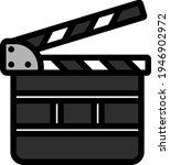 movie clap board icon. editable ...