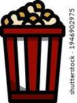 cinema popcorn icon. editable...