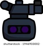 3d movie camera icon. editable...