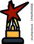 cinema award icon. editable...