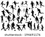 soccer silhouettes | Shutterstock .eps vector #194691176