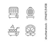 kitchen appliances linear icons ... | Shutterstock .eps vector #1946915458