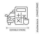 rate estimator linear icon. car ... | Shutterstock .eps vector #1946915485