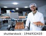 Portrait Of Food Factory Worker ...