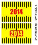 2014 on measuring tape.   Shutterstock .eps vector #194698376