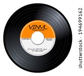 old  retro orange vinyl record  ... | Shutterstock .eps vector #194699162