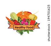 healthy food sign | Shutterstock .eps vector #194701625