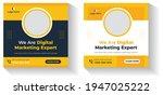 digital marketing social media...   Shutterstock .eps vector #1947025222