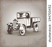 Old Soviet Truck Stylized Retro ...