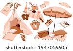 picnic on the beach...   Shutterstock .eps vector #1947056605