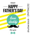 design greeting card for father'... | Shutterstock .eps vector #194706152