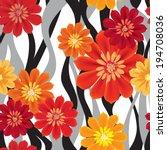 flowers seamless wave... | Shutterstock .eps vector #194708036