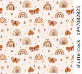 seamless pattern with celestial ...   Shutterstock .eps vector #1947082825