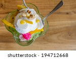 coconut ice cream with topping | Shutterstock . vector #194712668