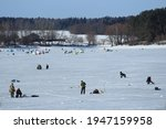 Winter Fishing On Ice  Natural...