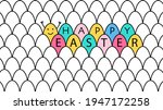 easter horizontal banner with... | Shutterstock .eps vector #1947172258