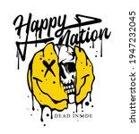 happy nation slogan print... | Shutterstock .eps vector #1947232045