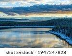 Yellowstone Lake At Sunrise...