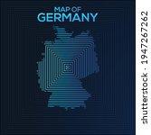 rectangular map of germany....   Shutterstock .eps vector #1947267262