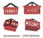 set of 4 shopping basket icons...