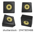 set of 4 sound speaker icons...