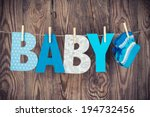 letters of word baby and... | Shutterstock . vector #194732456