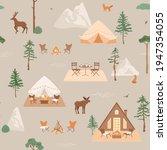 glamping  travel concept.... | Shutterstock .eps vector #1947354055