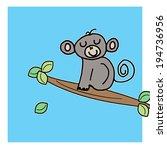 little monkey | Shutterstock . vector #194736956