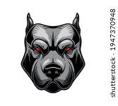 illustration of angry pitbull...   Shutterstock .eps vector #1947370948