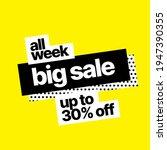 discount banner template.... | Shutterstock .eps vector #1947390355