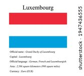 luxembourg national flag ...   Shutterstock .eps vector #1947436555