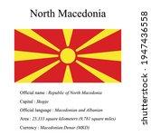 north macedonia national flag ...   Shutterstock .eps vector #1947436558