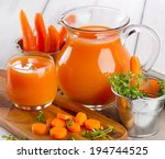 Carrot Juice With Fresh Herbs....
