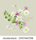 Watercolor Bouquet Of Wild...
