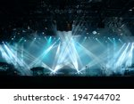 lights beams on stage with... | Shutterstock . vector #194744702
