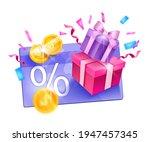 loyalty program  customer gift... | Shutterstock .eps vector #1947457345