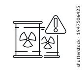 nuclear waste linear icon.... | Shutterstock .eps vector #1947506425