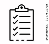 check list icon vector isolated ...