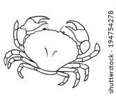 Vector Line Art Crab