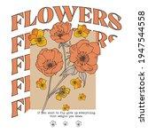 autumn flower illustration with ...   Shutterstock .eps vector #1947544558