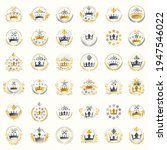 crowns vintage heraldic emblems ...   Shutterstock .eps vector #1947546022