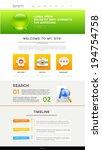vector website design template   Shutterstock .eps vector #194754758