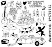 hand drawn wedding symbols | Shutterstock .eps vector #194759552