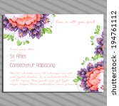 wedding invitation cards with...   Shutterstock .eps vector #194761112