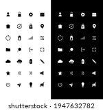 basic glyph icons set for night ...