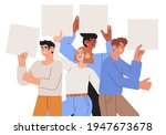 collection of smiling young men ... | Shutterstock .eps vector #1947673678