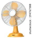 Table Fan. Orange Table Fan.