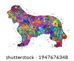 Cocker Spaniel Dog Watercolor ...